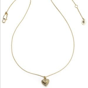 Juicy Couture long chain Heart necklace